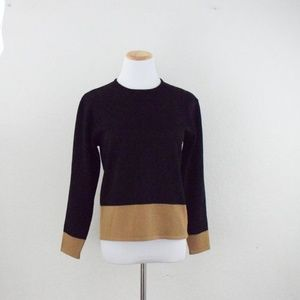 pullover knit blouse/ scoop neckline/ long sleeve